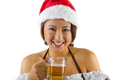 Christmas Elf Bartender Royalty Free Stock Photos