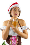 Christmas Elf Bartender Stock Photo