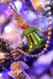 Christmas elf-bells in retro style Stock Images