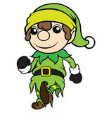 Christmas Elf Boy Walking Stock Images