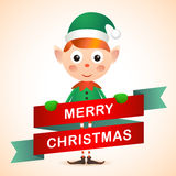 Christmas Elf Card Stock Photo