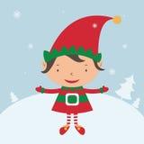 Christmas Elf Card template stock illustration