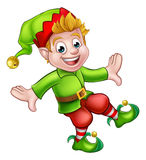 Christmas Elf Cartoon Character. A cute Christmas elf pixie Santa helper cartoon character Stock Image
