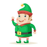 Christmas Elf Character New Year Isolated Icon Cartoon Design Vector Illustration Royalty Free Stock Photos