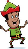 Christmas Elf Dancing Royalty Free Stock Photography