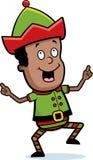 Christmas Elf Dancing stock illustration