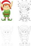 Christmas elf. Dot to dot game for kids Stock Photos