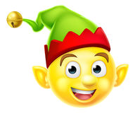 Christmas Elf Emoticon Stock Images