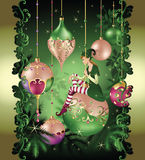 Christmas elf fairy tale Stock Image