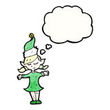 Christmas elf girl cartoon Royalty Free Stock Photo
