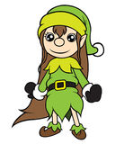 Christmas Elf Girl Standing Royalty Free Stock Image