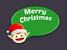 Christmas Elf Greetings Royalty Free Stock Images