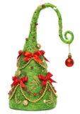 Christmas Tree Decorative, Abstract Creative Xmas Hanging Decoration, White Background Stock Photos