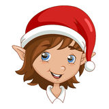 Christmas elf head Royalty Free Stock Image