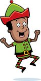 Christmas Elf Jumping Stock Image