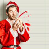 Christmas elf letter writing a holiday message Stock Photography