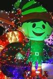 Christmas Elf. A Christmas Elf lit up with Christmas lights Royalty Free Stock Photo