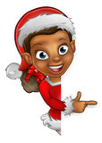 Christmas Elf Pointing Stock Photography