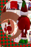 Christmas elf in ring. Christmas elf in a ring watching the other elfs leave Royalty Free Stock Images