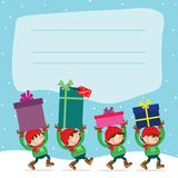 Christmas Elf´s Stock Photo