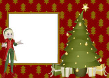 Christmas Elf Scrapbook Page Stock Photos