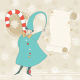 Christmas Elf and Scroll Royalty Free Stock Photos