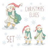 Christmas Elf Set Stock Photography