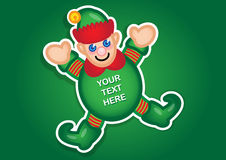 Christmas Elf  sticker Royalty Free Stock Image