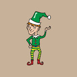 Christmas elf stripped plants Stock Images