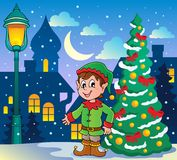 Christmas elf theme 2 Stock Photo