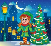 Christmas elf theme 6 Stock Photos
