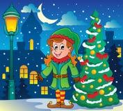 Christmas elf theme 6 Stock Photos