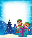 Christmas elf theme 7 Royalty Free Stock Images
