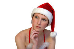 Christmas Elf thinking Stock Photos