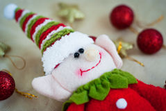 Christmas elf toy Stock Photo