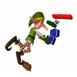 Christmas Elf - Tripping 2 Royalty Free Stock Images