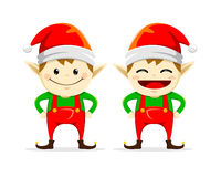 Christmas Elf twin Royalty Free Stock Photos