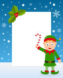 Christmas Elf Vertical Frame Stock Images
