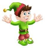Christmas elf waving Royalty Free Stock Photos