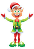 Christmas elf welcome with open hands Stock Images
