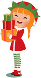 Christmas elf on a white background Royalty Free Stock Images