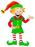 Christmas elf on white background Royalty Free Stock Image