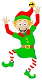 Christmas elf on white background Royalty Free Stock Images