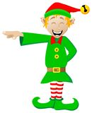Christmas elf on white background Royalty Free Stock Photo