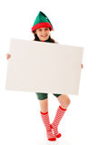 Christmas Elf with Your Message Stock Images