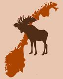 Christmas Elk in Norway Stock Photos