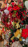 Toy,elk, cloth, puppet,decoration,Christmas. Elk puppet with christmas decoration Royalty Free Stock Image