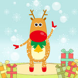 Christmas elk royalty free stock photo
