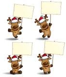 Christmas Elks Placard Stock Image