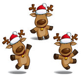 Christmas Elks Royalty Free Stock Images